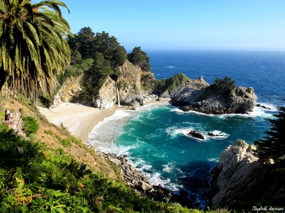 McWay Falls:  Julia Pfeiffer Burns State Park Grand View, Big Sur, California